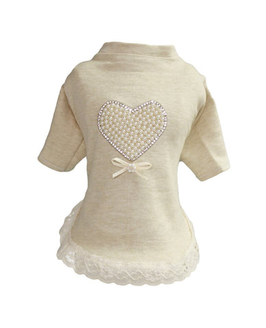 Pearl Heart Baby Dress