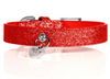 Stardust Collar - Red - Luxurious Paws