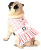 Dog Dress, Dog Harness - Pink Plaid Girl Dog Harness - Luxurious Paws