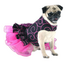 Party Dog Dress Black with Hot Pink Swirls - Luxurious Paws