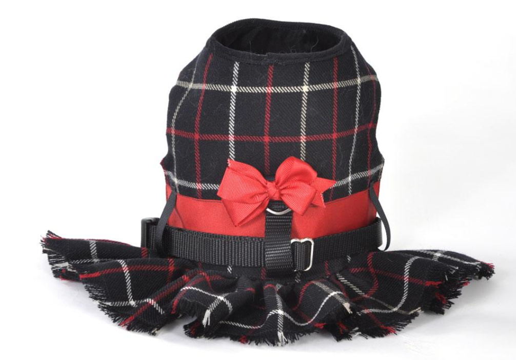 Plaid Dog Harness - Luxurious Paws