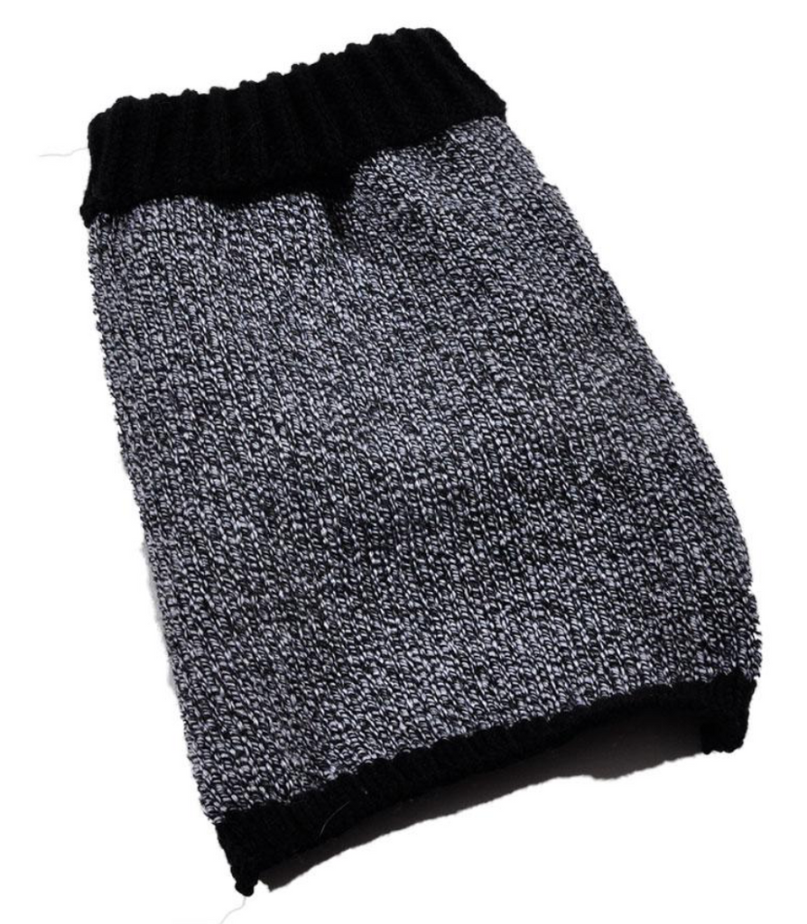 Black and White Dog Sweater - Luxurious Paws
