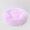 Pink Shag Bolster Bed - Luxurious Paws