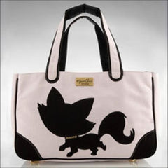 Foxy Pom Canvas Rescue Me tote Pink - Luxurious Paws