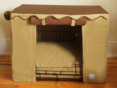 Crate Cover Camel Brown - Luxurious Paws