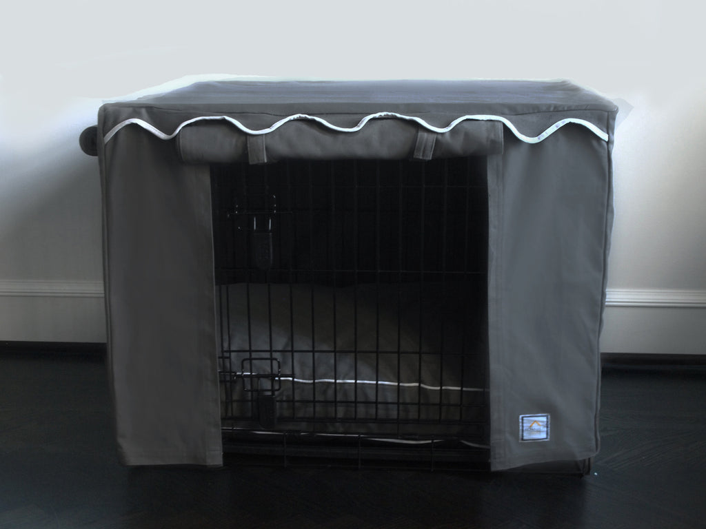 Grey Slate Crate Cover - Luxurious Paws