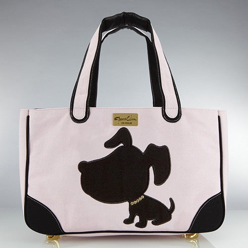 Doggie Style Canvas Rescue Me Tote Pink - Luxurious Paws