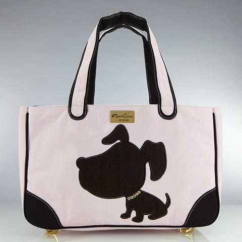 Doggie Style Canvas Rescue Me tote Pink