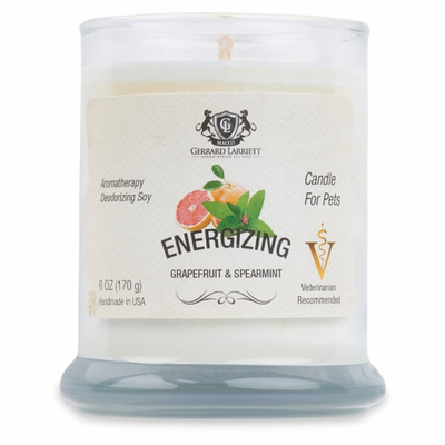 Energizing Grapefruit & Spearmint Aromatherapy Deodorizing Soy Candle - Luxurious Paws