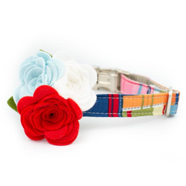 Sandcastle Flower Collar - Luxurious Paws