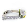 Grey Lake Flower Collar - Luxurious Paws