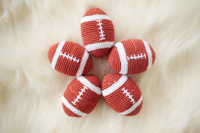 Crochet Football Toy - Luxurious Paws