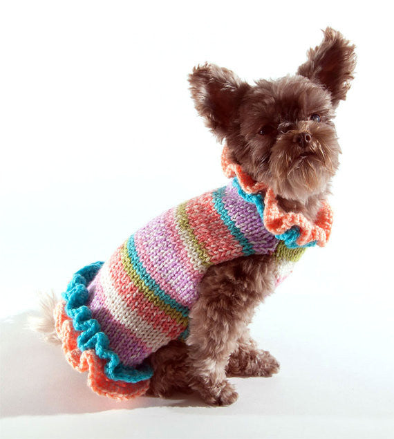 Spring Knit Sweater Dress - Luxurious Paws