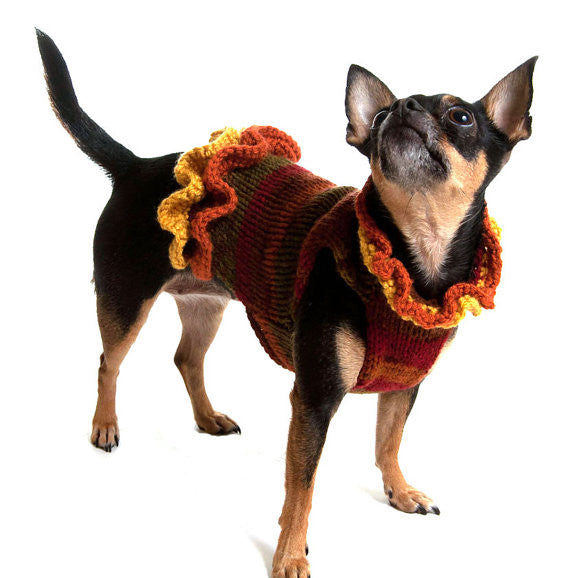 The Holly Sweater Dress- an Autumn Dog Dress - Luxurious Paws
