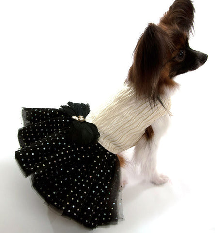 Gold Dog Dress with Sparkles