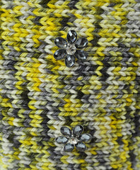Yellow and Gray Sweater Shrug - Luxurious Paws
