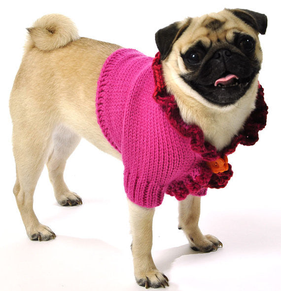 Hot Pink Dog Shrug - Luxurious Paws