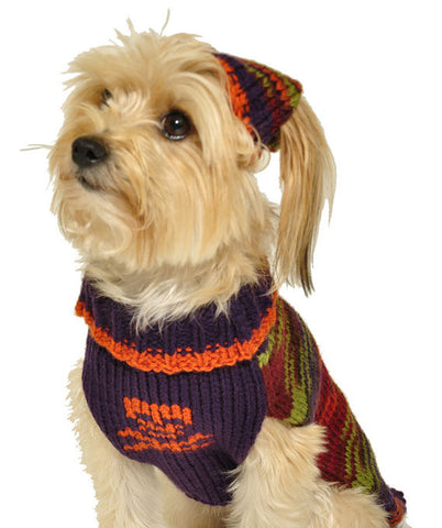 Dog Sweater with Knit Hat Skull and Crossbones