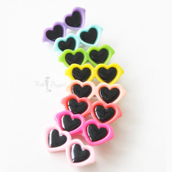 Heart Sunglasses Barrette - Luxurious Paws
