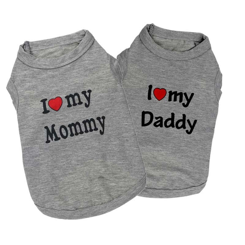I Love my Mommy/Daddy Dog Shirt - Luxurious Paws