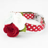 Red Sea Flower Collar - Luxurious Paws
