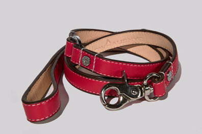 Cherry Red Leash - Luxurious Paws