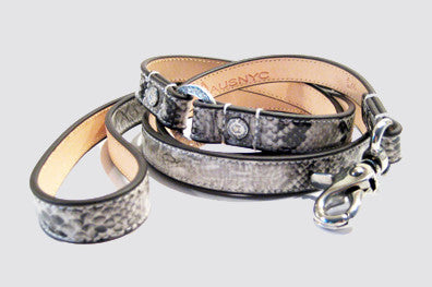 Snakeskin Leash - Luxurious Paws