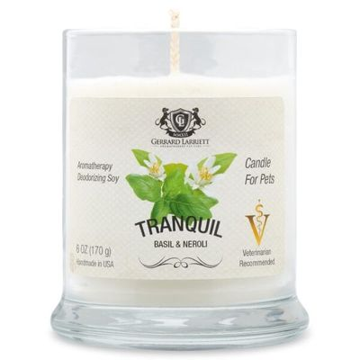 Tranquil Basil & Neroli Aromatherapy Deodorizing Soy Candle For Pets