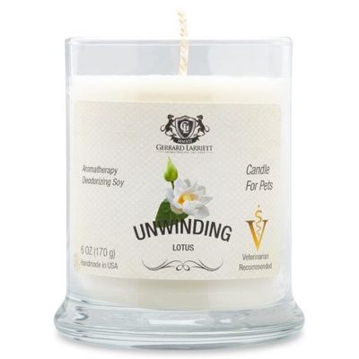 Unwinding Lotus Aromatherapy Deodorizing Soy Candle For Pets