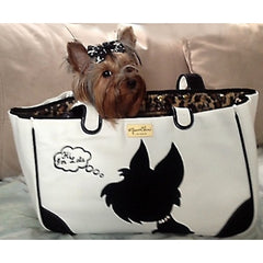 I Love New Yorkie Canvas Rescue Me Tote White - Luxurious Paws