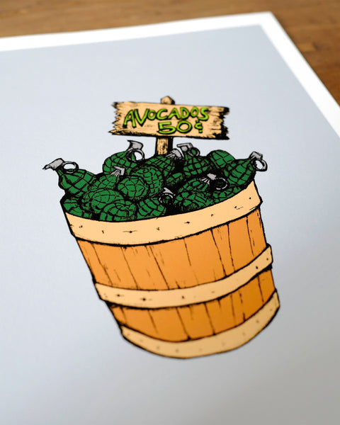 """Bushel of Grenades"" Limited Edition Print"