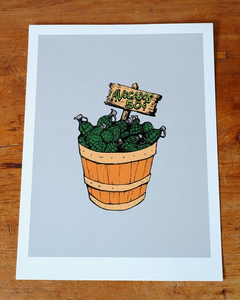 """Bushel of Grenades"" Limited Edition Art Print"