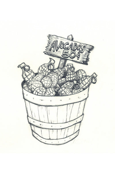"""Bushel of Grenades"" Drawing"