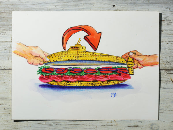 Submarine Sandwich Concept Art #3
