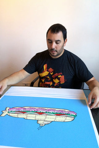 Submarine Sandwich Screen Print