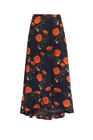 Mother of Pearl Lora Skirt - Mandarin Flower - SIZE 10 (1620834025525)