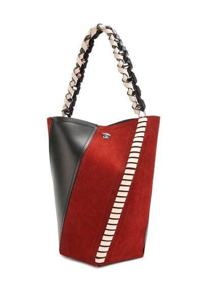 Proenza Schouler Medium Hex Bucket Bag - Red Plum/Black/Clay (777170386997)