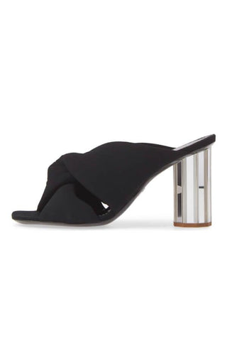 Proenza Schouler Knotted Crepe Mule - Black (1525807349813)