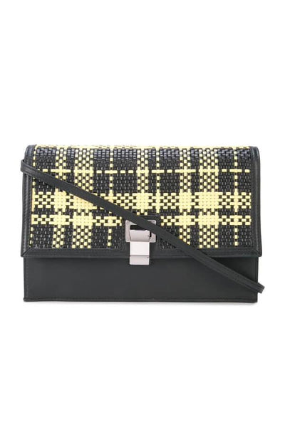 Proenza Schouler Woven Plaid Lunch Bag - Black/ Butter Toast (3779946381365)