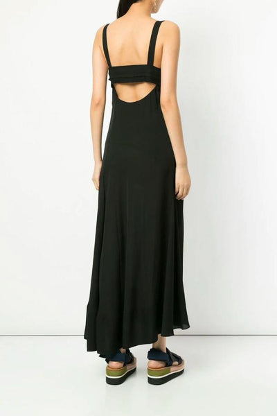 3.1 Phillip Lim Tie Front Silk Gown - Black