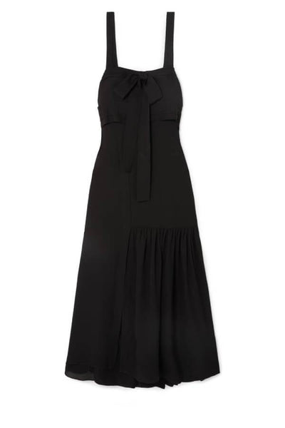 3.1 Phillip Lim Tie Front Silk Gown - Black (1491630981173)