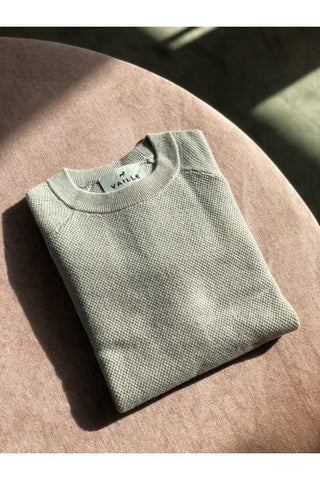 Vaille Crew Neck Cashmere Knit - Green