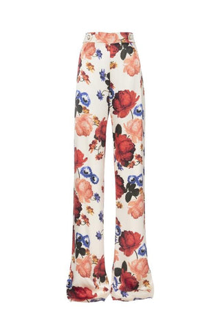 Mother Of Pearl Roland Silk Satin Trouser - Ceres Flower Ivory (4101952733237)