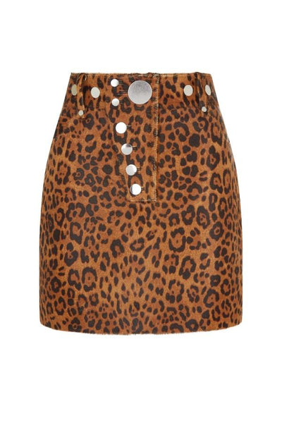 Alexander Wang High Waisted Mini Skirt - Leopard