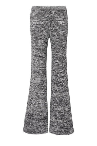 Victoria Victoria Beckham Split Flare Knitted Trouser - Midnight/ Ivory (3766893019189)