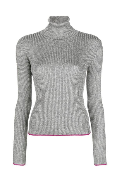 Marco de Vincenzo  Lurex Turtleneck - Silver