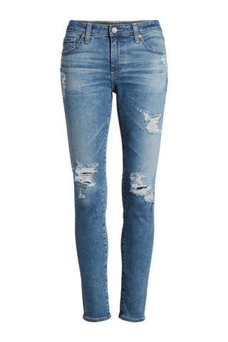 AG Denim The Legging Ankle 13 Years Pacifica Destructed EMP138913YPCD