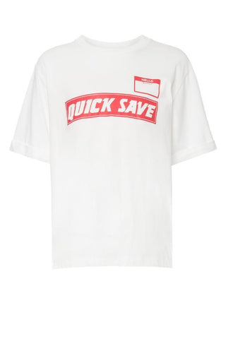 Mother of Pearl Charlie QUICK SAVE Tee - White (4101855051829)