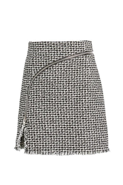 Alexander Wang Tweed Mini Skirt - Black/ White (3753200156725)
