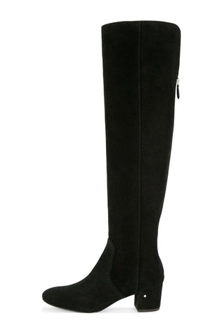 Laurence Dacade Soraya Suede Over the Knee Boot - Black